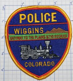 Colorado, Wiggins Police Dept Patch • $3.50 - PicClick