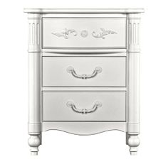 (2) in french white Isabella 3 Drawer Night Stand - Night Stands - Products - Young America