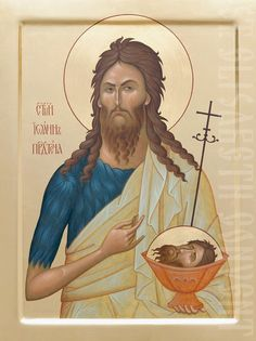 Handpainted icon of St. John the Baptist with a cup        #CatalogOfGoodDeeds   #icon #iconography #orthodoxicon #orthodoxiconography #mountedicons #buyicon #ordericon #iconographers   #saints
