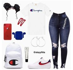 Baddie Outfits Casual, Boujee Outfits, Cute Outfits For School, Teen Fashion Outfits, Dope Outfits, Jordan Outfits, Teenager Fashion, Women's Fashion, Tween Fashion