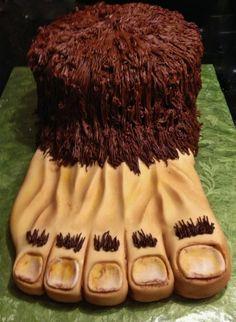 Sasquatch cake AKA Bigfoot