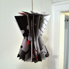 ReFab Diaries: Upcycle: Folded book ornament