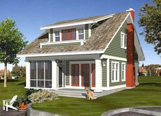 House Plan DT 0038 Rear Elevation