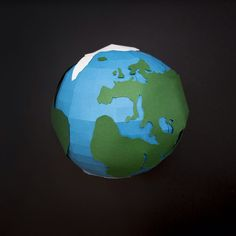 Earth Day  by Hannah Miles (utensils0) #EarthDay #Earth #Planet #paper #papercraft #paperillustration