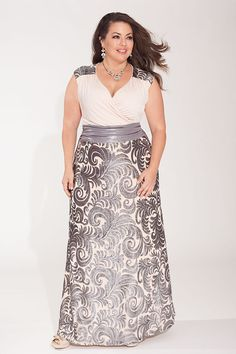 1ac498cc49 Plus Size Fashion 2015  Lisette Gown in Blush Argent  plussizegown. This  gown is