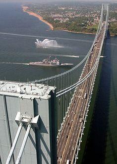 Verranzano Bridge - Staten Island, New York   The ramp of this bridge was out our Master bedroom window.