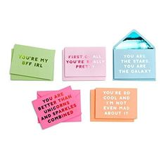 Perfect for popping a little note through your best friends letter-box...