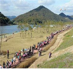 The walkathon in the ecological park of Gongju reservoir at Geum river [ 금강 공주보 생태공원에서 기분 좋은 걷기 대회 ]
