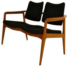 Beech settee by Prince Sigvard Bernadotte and made by France & Daverkosen.