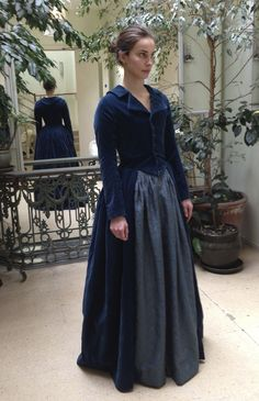 Elizabeth (Heida Reed) costume fitting. Riding outfit made in cotton velveteen with natural holland linen lining. Courtesy of Marianne Agertoft/Mammoth Screen.   Poldark, as seen on Masterpiece PBS