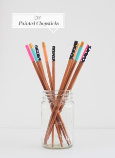 Make Food Awesome-r with DIY Painted Chopsticks