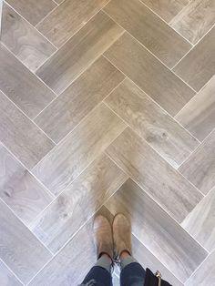 Wooden tile floor