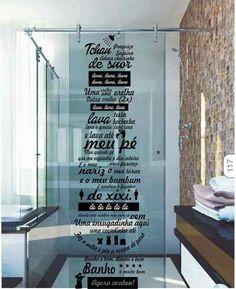 Adesivo Decorativo Banheiro Box Música Ratinho Ratimbum Lava