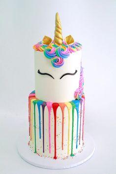 Unicorn Cake by Cake Bash Studio & Bakery, Lake Balboa CA Cute Cakes, Pretty Cakes, Bolo Naruto, Cute Desserts, Partys, Drip Cakes, Savoury Cake, Cakes And More, Themed Cakes