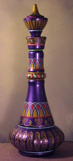 I Dream of Jeannie Bottle. I remember decorating a toy plastic ketchup bottle and pretending it was my genie bottle Purple Love, All Things Purple, Shades Of Purple, Purple Stuff, Deep Purple, Purple Glass, Teal, My Favorite Color, My Favorite Things