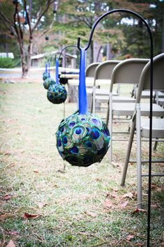 Peacock Pomanders - I'd like to make one just to hang in my home.