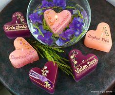 Schwimmkerze Herz VIELEN DANK DW 397 von  Kerzenkunst -  Kreatiwita auf DaWanda.com
