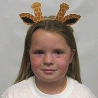 Printable Giraffe Ears Craft