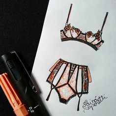 #draw #drawing #fashion #love #inlove #fashionillustration #illustration #lingerie #intimates #instagood #fashiondesign #designdemoda #moda #art #arte #croqui #handmade #lookdodia #lookoftheday #lace #vintage #fashion4arts