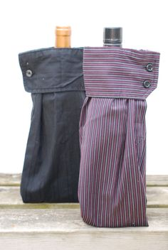 Men's Dress Shirt Wine Sleeve Gift Bags.