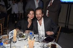 Date night: Maggie Gyllenhaal and Peter Sarsgaard kept close as they tucked into dinner and drinks