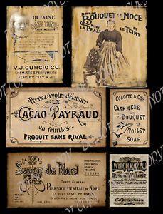 Free Prim Labels   Primitive Vintage Label French Ladies Products FH290   eBay