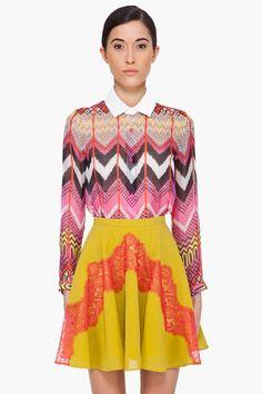Carven Multicolor Silk Blouse