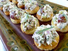 Tarragon chicken salad appetizers