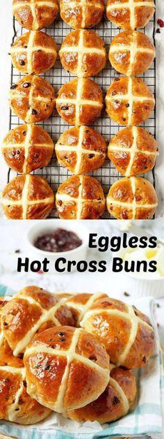 Eggless Hot Cross Buns. Step-by-step recipe with pictures to make eggless hot cross buns. #egglesshotcrossbuns #hotcrossbuns #buns #easter #baking @aromaticessence