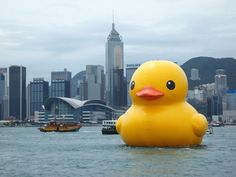 Meet the World's Most Controversial Inflatable Yellow Duck | Atlas Obscura