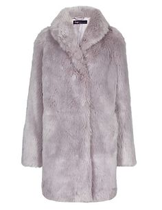 Twiggy for M&S Collection Faux Fur Coat | M&S