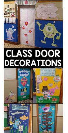 Disney Classroom Door Decorations Monsters Inc 62 Ideas Disney Classroom, Preschool Classroom, Classroom Themes, Kindergarten, Holiday Classrooms, Future Classroom, Art Classroom Door, Classroom Teacher, Classroom Design