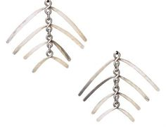 Earrings |  Alexander Calder.  silver.   Executed circa 1942.