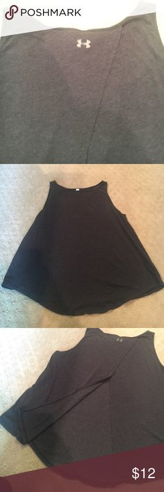 Under armor yoga tank Crew neck, split back tank. Can be tied up in the back, very cute. Light worn, great condition. Under Armour Tops Tank Tops