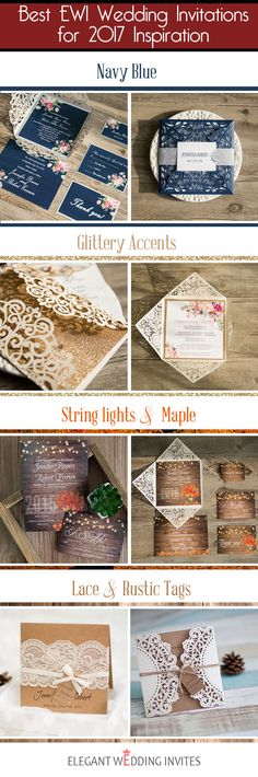 best wedding invitations for 2017 wedding trends from elegant wedding invites