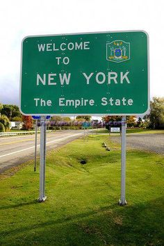 Welcome to New York sign - Bing Images: oldest son born here and lived my young life in Westchester County Places Around The World, The Places Youll Go, Around The Worlds, 50 States, United States, Destinations, Westchester County, Upstate New York, City That Never Sleeps
