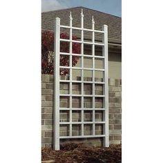 Vinyl Lattice Panel Garden Yard Trellis Outdoor Climbing Plant Wall Fence Frame for sale online Obelisk Trellis, Wall Trellis, Metal Trellis, Arbors Trellis, Trellis Ideas, Trellis Panels, Vine Trellis, Cheap Pergola, Diy Pergola