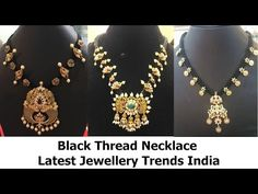 Black Thread Necklace Latest Jewellery Trends India - YouTube