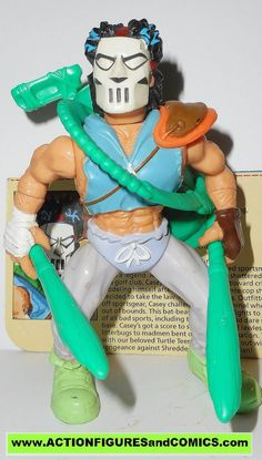 teenage mutant ninja turtles CASEY JONES 1988 vintage complete tmnt