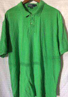 Polo Ralph Lauren Men's Polo Shirt XL Green Pony Logo EUC #PoloRalphLauren #PoloRugby