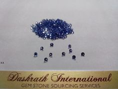 2mm Round Faceted Natural Tanzanite Loose Gemstone par DashrathInt