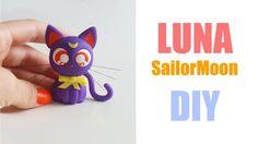 DIY -  Luna de Sailor Moon - Gatinha em Biscuit