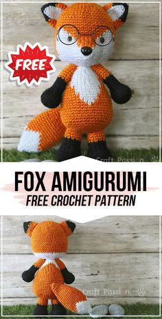 crochet Fox Amigurumi free pattern - easy crochet fox pattern for. Best Picture For Amigurumi Free Crochet Fox Pattern Free, Crochet Amigurumi Free Patterns, Free Crochet, Crochet Tree, Amigurumi Fox, Crochet Simple, Animal Knitting Patterns, Origami, Beginner Crochet