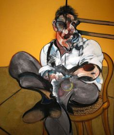 Francis Bacon Three Studies of Lucian Freud Central Panel 1969 Oil on canvas Lucian Freud 198 cm × cm in × 58 in); for each canvas Elaine Wynn Francis Bacon, Lucian Freud, Famous Artists, Great Artists, Sad Art, Art Pictures, Art Pics, Printmaking, Romero Britto