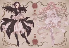 Shinobu Kocho and Mitsuri Kanroji - Rozen Maiden parody Anime Angel, Anime Oc, Anime Demon, Manga Anime, Black Butler Anime, Demon Slayer, Slayer Anime, Pastel Goth Art, I Love Anime
