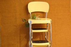 Vintage Yellow Stylaire Stepstool vintage by PickersWarehouse