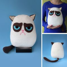 Grumpy cat plush by FizziMizzi.deviantart.com on @deviantART
