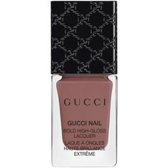 Gucci Makeup Limited Edition Gucci Bold High-Gloss Nail Lacquer -... (£20) ❤ liked on Polyvore featuring beauty products, nail care, nail polish, makeup, nail, beauty, gucci, shiny nail polish, bristle brush and glossy nail polish