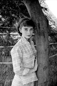Audrey Hepburn in Rome, 1955.