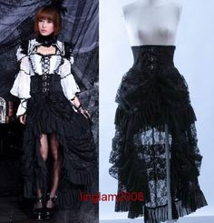 Gothic Lolita Long Frag Lace Skirt